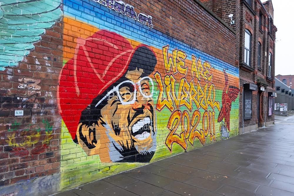 LIVERPOOL, ENGLAND - Saturday, November 28, 2020: Street art mural of Liverpool manager Jürgen Klopp in the Baltic Triangle, Liverpool. (Pic by David Rawcliffe/Propaganda)