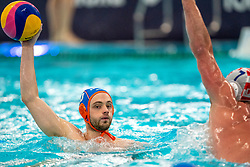 Pascal Janssen of the Netherlands in action against Croatia during the Olympic qualifying tournament. The Dutch water polo players are on the hunt for a starting ticket for the Olympic Games on February 15, 2021 in Rotterdam