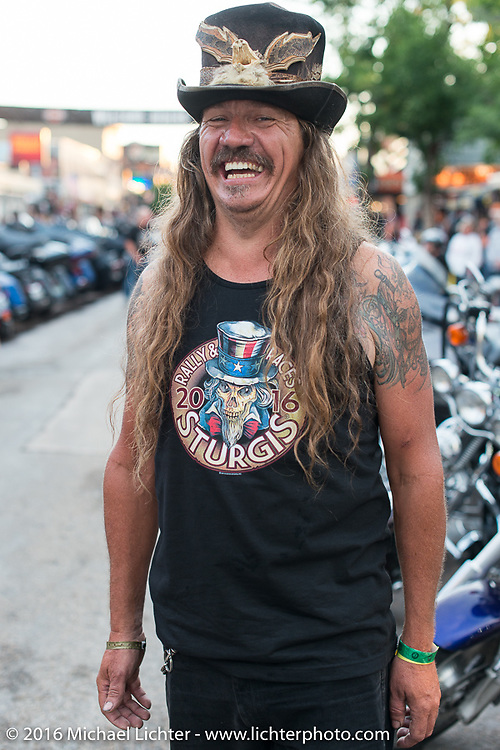 Bean're on Main Street during the annual Sturgis Black Hills Motorcycle Rally.  SD, USA.  August 8, 2016.  Photography ©2016 Michael Lichter.