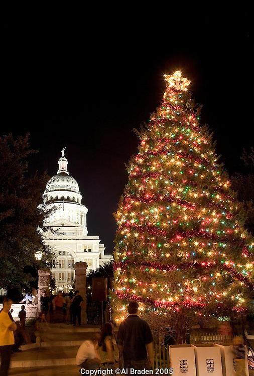 Christmas Tree at Texas Capitol, Austin.