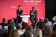 Anneliese Dodds MP moderating a question and answer session with former City financier Professor Avinash Persaud launches a new policy paper in London on modernising the UKs existing financial transactions tax i.e. Robin Hood Tax on July 18th 2017 in London, United Kingdom. Speaking on a panel with Labours Shadow Chancellor John McDonnell, who has adopted the papers policy recommendations.