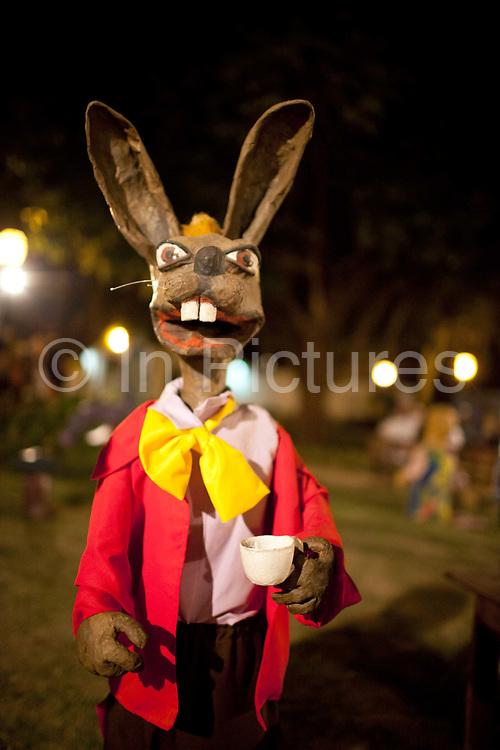 Rabbit puppet, part of the FLIP literary festival, Paraty, Rio de Janeiro State, Brazil.
