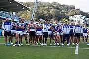 The Warriors post-match. Vodafone Warriors v Manly Sea Eagles. NRL Rugby League, Central Coast Stadium, Gosford, NSW, Australia, Sunday 27th September 2020 Copyright Photo: David Neilson / www.photosport.nz