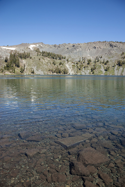 """""""Gilmore Lake 1"""" - Photograph of Gilmore Lake in the Tahoe Desolation Wilderness."""