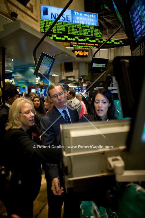 Tiffany & Co. CEO Michael Kowalski on the floor of the  New York Stock Exchange Oct. 10, 2007 the day Tiffany & Co. when public.