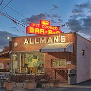 Allman's pit barbeque in Fredericksburg, VA