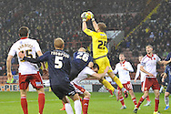 Sheffield United goalkeeper George Long takes ball during the Sky Bet League 1 match between Sheffield Utd and Southend United at Bramall Lane, Sheffield, England on 14 November 2015. Photo by Ian Lyall.