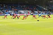 Luton Town players warming up before the EFL Sky Bet League 1 match between Luton Town and Bristol Rovers at Kenilworth Road, Luton, England on 15 September 2018.