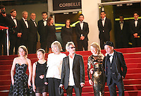 The cast and director at the Holy Motors gala screening, red carpet at the 65th Cannes Film Festival France. Wednesday 23rd May 2012 in Cannes Film Festival, France.