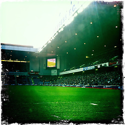 Ibrox, home of Rangers FC..Hipstamatic images taken on an Apple iPhone..©Michael Schofield.
