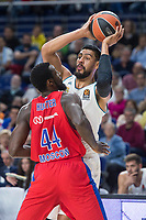 Real Madrid Gustavo Ayon and CSKA Moscu Othello Hunter during Turkish Airlines Euroleague match between Real Madrid and CSKA Moscu at Wizink Center in Madrid, Spain. October 19, 2017. (ALTERPHOTOS/Borja B.Hojas)