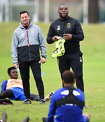 Cape Town-180801-Cape Town City Coach Bennie McCarthy with assistant Vasili Manousakis  at training session at Hartleyvale Stadium, ahead of their opening game of the 2018/2019 PSL season against Supersport United at Cape Town Stadium on saturday.Photograph:Phando Jikelo/African News Agency/ANA
