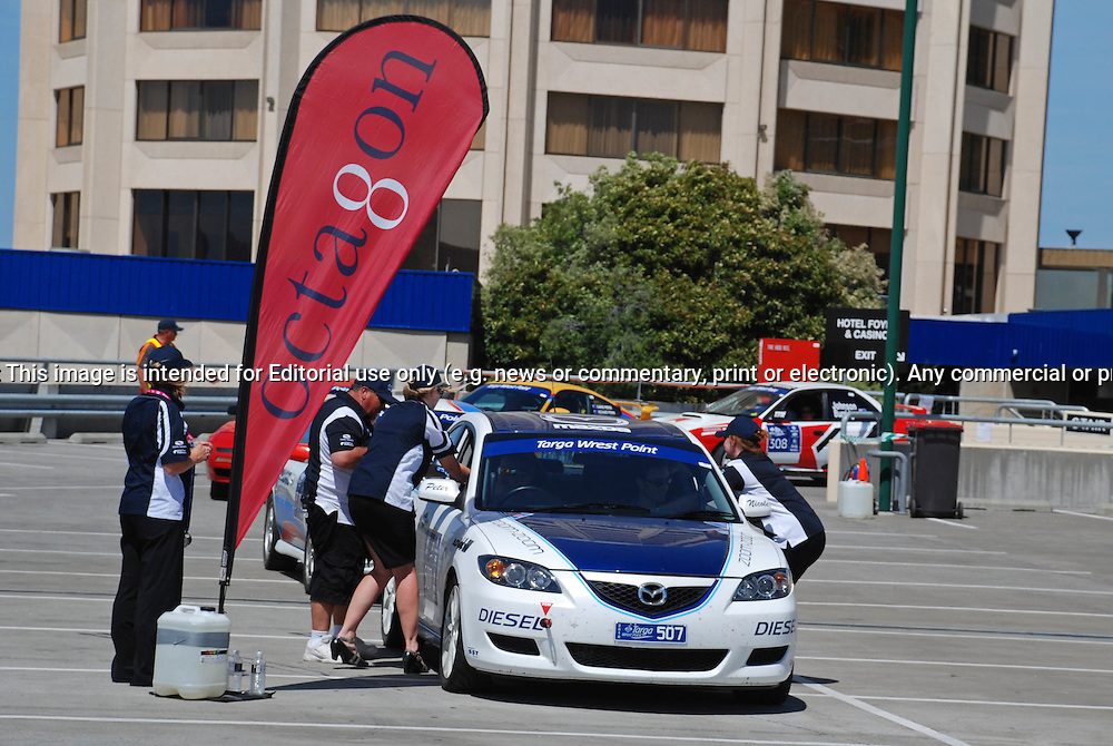 507 Peter Brown & Stewart Gamble..2007 Mazda 3 Diesel.Day 2.Targa Wrest Point 2010.Southern Tasmania.31st of January 2010.(C) Sarah Biggin.Use information: This image is intended for Editorial use only (e.g. news or commentary, print or electronic). Any commercial or promotional use requires additional clearance.