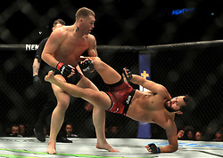Darren Till (left) and Jorge Masvidal in action during their Welterweight bout during UFC Fight Night 147 at The O2 Arena, London.
