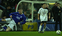10/01/2004 - Photo  Peter Spurrier<br /> 2003/04 Barclaycard Premiership Fulham v Everton<br /> Duncan Ferguson, diving header