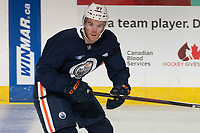 KELOWNA, BC - SEPTEMBER 22:  Connor McDavid #97 of the Edmonton Oilers practices at Prospera Place on September 22, 2019 in Kelowna, Canada. (Photo by Marissa Baecker/Shoot the Breeze)