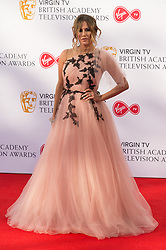© Licensed to London News Pictures. 13/05/2018. London, UK. CARLINE FLACK arrives for the Virgin TV British Academy (BAFTA) Television Awards. Photo credit: Ray Tang/LNP