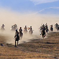 Youngsters gallop bare-back in a Naadum festival race near Rinchenlhumbe in the Darhad Valley.