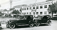 1925 The California Studios (left) and the Bischoff Inc. Studio (right) were located on Gower St., just south of Sunset Blvd. Owned by Sam Bischoff, the studio was the home H.C. Witwer & Gold Medal Comedies.
