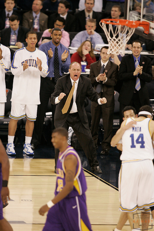 01 April 2006: UCLA coach Ben Howland as the UCLA Bruins beat the LSU Tigers 59-45 in the NCAA national semifinal game of the Final Four in Indianapolis.