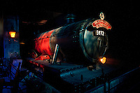 """Hogwarts Express at the """"Harry Potter"""" exhibition at Discovery Times in New York. ..Photo by Robert Caplin."""