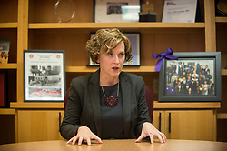 July 20, 2017 - Minneapolis, MN, USA - Minneapolis Mayor Betsy Hodges speaks to the Star Tribune in a conference room beside her office on Thursday, July 20, 2017, in Minneapolis, Minn. (Credit Image: © Aaron Lavinsky/TNS via ZUMA Wire)