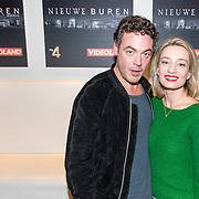 NLD/Hilversum/20161115 Castpresentatie RTL serie Nieuwe Buren 2, Fedja van Huet en partner Karina Smulders