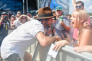 FRANKLIN, TN - SEPTEMBER 24: Langhorne Slim performs during Pilgrimage Music & Cultural Festival on September 24, 2017 in Franklin, Tennessee. (Photo by Mickey Bernal/Getty Images for Pilgrimage Music & Cultural Festival)
