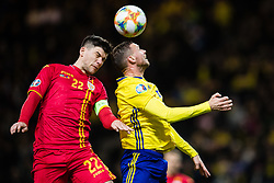 March 23, 2019 - Stockholm, SWEDEN - 190323 Cristian Sapunaru of Romania nd Marcus Berg of Sweden during the UEFA Euro Qualifier football match between Sweden and Romania on March 23, 2019 in Stockholm. (Credit Image: © Andreas L Eriksson/Bildbyran via ZUMA Press)