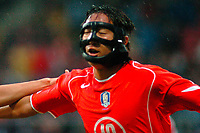 Fotball <br /> FIFA World Youth Championships 2005<br /> Emmen<br /> Nederland / Holland<br /> 12.06.2005<br /> Foto: ProShots/Digitalsport<br /> <br /> Sør-Korea v Sveits<br /> <br /> shin young rok juicht na de 1-0