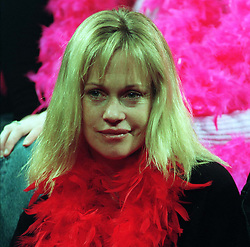 Actress Melanie Griffith at a photocall before a performance of Eve Ensler's 'The Vagina Monologues' at the Old Vic Theatre in London as part of V-Day, an event to raise money for women's charities.