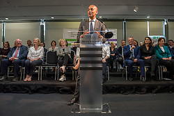 © Licensed to London News Pictures. 23/04/2019. Bristol, UK. CHUKA UMUNNA, at Change UK – The Independent Group holding their European election campaign launch at We The Curious in Bristol's Millennium Square. Photo credit: Simon Chapman/LNP