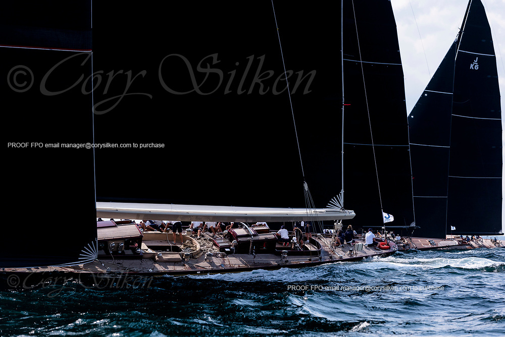 Velsheda sailing in the J Class World Championship.