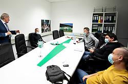 Milan Mandaric, president of NK Olimpija and Goran Stankovic during his official presentation as a new coach of NK Olimpija Ljubljana before the spring season of Prva liga Telekom Slovenije 2020/21, on January 12, 2021 in Ljubljana, Slovenia. Photo by Vid Ponikvar / Sportida