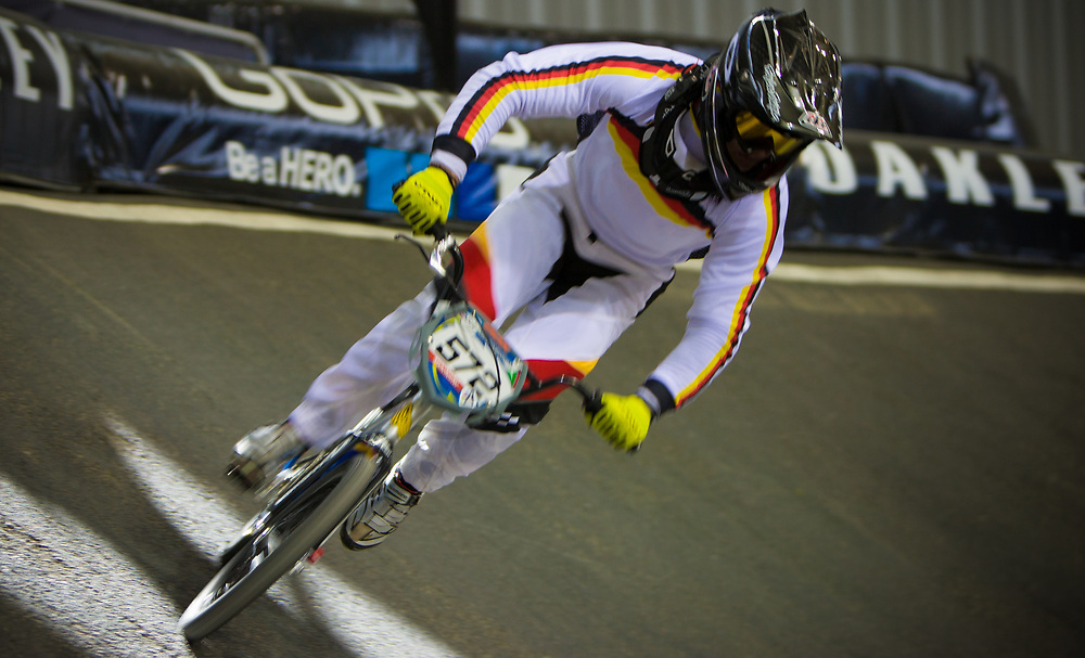#572 (BRETHAUER Luis) GER at the UCI BMX Supercross World Cup in Manchester, UK