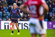 Darcy Graham (#14) of Edinburgh Rugby during the European Rugby Challenge Cup match between Edinburgh Rugby and SU Agen at BT Murrayfield, Edinburgh, Scotland on 18 January 2020.
