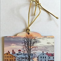 Christmas at Canterbury Shaker Village Ornament. <br />