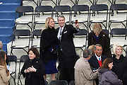 Former Senate Majority Leader Bill Frist and his wife Tracy Roberts take a selfie before the start of the Inauguration of President-elect Donald Trump as the 45th President on Capitol Hill January 20, 2017 in Washington, DC.