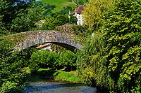 France, Pyrénées-Atlantiques (64), Pays Basque, village de Saint-Etienne-de-Baïgorry, le pont Roman // France, Pyrénées-Atlantiques (64), Basque Country, village of Saint-Etienne-de-Baïgorry