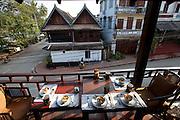 Breakfast at Mekong Estates house in town, Luang Prabang, Laos.
