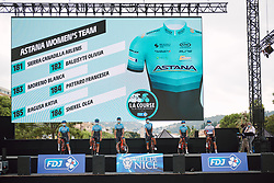 Astana Women's Team on stage at the 2020 La Course By Le Tour with FDJ, a 96 km road race in Nice, France on August 29, 2020. Photo by Sean Robinson/velofocus.com