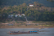 Along the banks of the Mekong River, Luang Prabang, Laos.