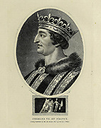 Charles VII of France (22 February 1403 – 22 July 1461), called the Victorious (French: le Victorieux) or the Well-Served (French: le Bien-Servi), was King of France from 1422 to his death in 1461. Copperplate engraving From the Encyclopaedia Londinensis or, Universal dictionary of arts, sciences, and literature; Volume VII;  Edited by Wilkes, John. Published in London in 1810