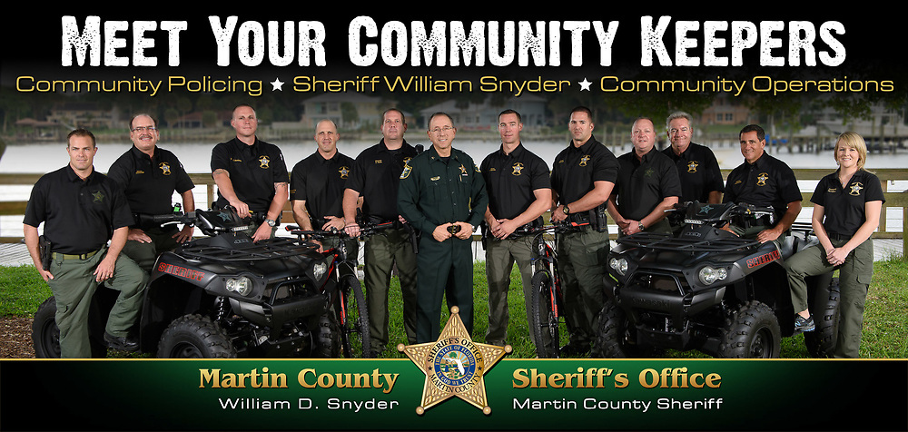 Martin County Sheriff Deputies as part of a community service campaign