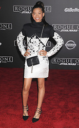 December 10, 2016 - Los Angeles, California, United States - December 10th 2016 - Los Angeles California USA - Actress STORM REID   at the World Premiere for ''Rogue One Star Wars'' held at the Pantages Theater, Hollywood, Los Angeles  CA (Credit Image: © Paul Fenton via ZUMA Wire)