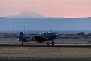 Douglas SBD Sauntless of Erickson Aircraft Collection landing after demonstration.