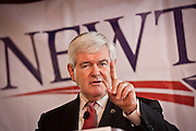Former Speaker and Republican presidential hopeful Newt Gingrich campaigns December 23, 2011 in Columbia, SC.