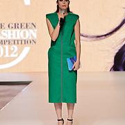 NLD/Amsterdam/20120127 - AFW winter 2012 - Pr. Maxima bij Green Fashion uitreiking, model Lonneke Engel