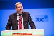 Len McCluskey, General Secretary of Unite, speaking at TUC Congress, 2013. Bournmouth.