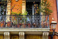 A balcony full of potted plants in Toulouse, France<br /> <br /> (c) Andrew Wilson | Edinburgh Elite media